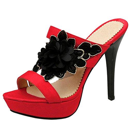 Sandales Bride 2 Cheville AicciAizzi red Femmes wPt1tp