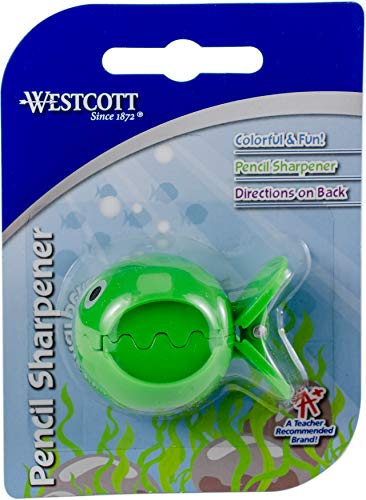 - Westcott Fish Single Hole Pencil Sharpener, Assorted Colors (15741-001)