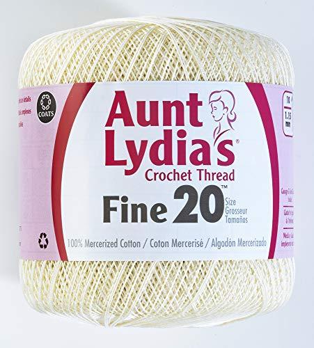 Coats Crochet Fine Crochet Thread, 20, Natural - Fine Crochet Thread