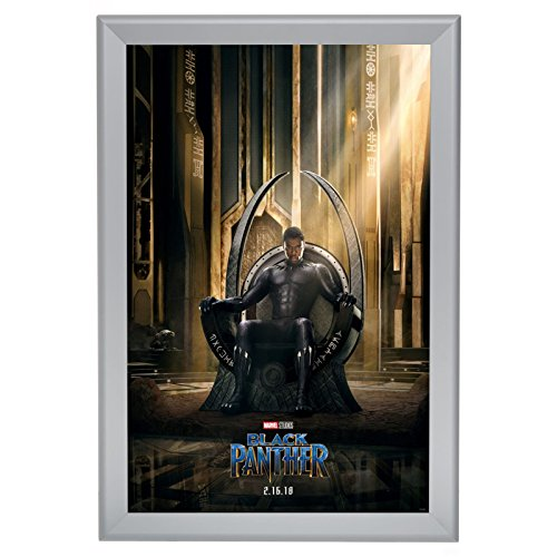 "SnapeZo Movie Poster Frame 27x40 Inches, Silver 1.7"" Aluminu"