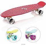 EightBit 27 Inch Complete Skate Board - Retro Skateboard - Fury / Ice