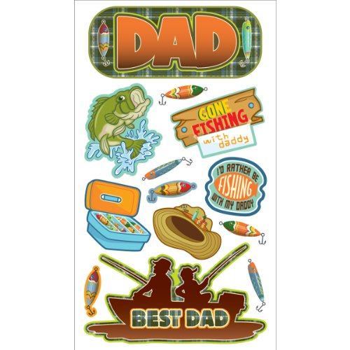 Sticko Fishing Dad Stickers