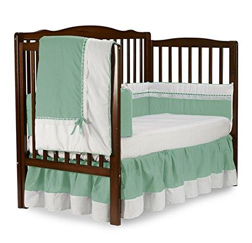 Baby Doll Royal Crib Bedding Set, Mint