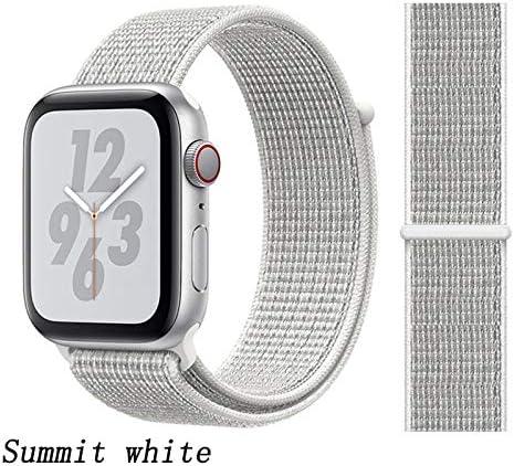 JWJY ユニバーサル・ウォッチバンド44ミリメートル40ミリメートル42ミリメートル38ミリメートルのナイロンブレスレット時計バンド44/42 (Band Color : Summit white, Band Width : 38mm or 40mm)