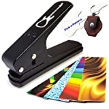 Pick-a-Palooza DIY Guitar Pick Punch with Leather Key Chain Pick Holder - Black