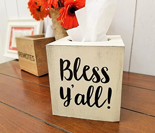 Bless Y'all! Wood Tissue Box Cover by Cades and Birch