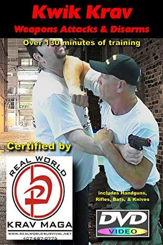 Krav MAGA Self Defense Against Weapons Attacks, and Training on Handgun, Rifle, Bat, Knife Disarms (Beginner/Advanced) 2 DVD Set (Krav Maga Best Self Defense)