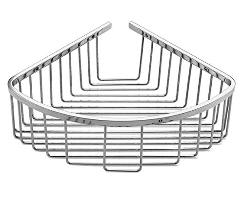 - VIBORG Deluxe Solid Thick SUS304 Stainless Steel Wire Wall Mounted Single Tier Bathroom Corner Shower Basket Bath Caddy Shelf Organizer Storage Holder for Shampoo Conditioner. Polished Mirror-Like