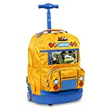 J World New York School Bus Kids' Rolling Backpack