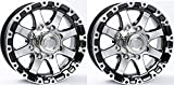 TWO (2) Aluminum Sendel Trailer Rims Wheels 8 Lug 16'' T08 Silver/Black Style