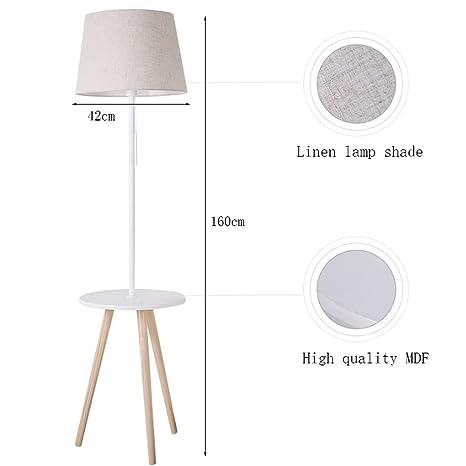 Lámpara de pie Simple para estantes, Mesa de Centro pequeña ...