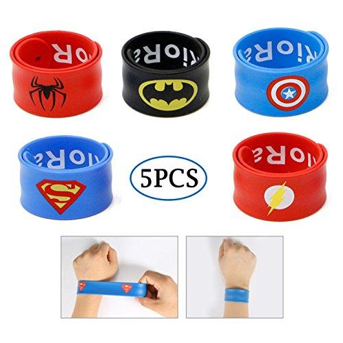 Slap Bracelets Kid's Party Supplies Favors Boy's Wristband Accessories Wrist Strap Gift Supplies 5PCS (Bracelets Slap)