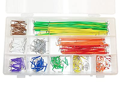 CIRCUIT-TEST Preformed Breadboard Jumper Wire Kit - Assorted Colors, 350 Pcs