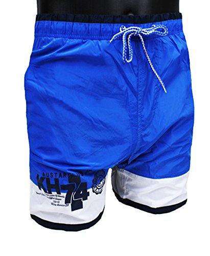 Kostüm Meer Herren Bermuda AUSTAR Yachting Blau Weiß Short Boxer Slim Fit