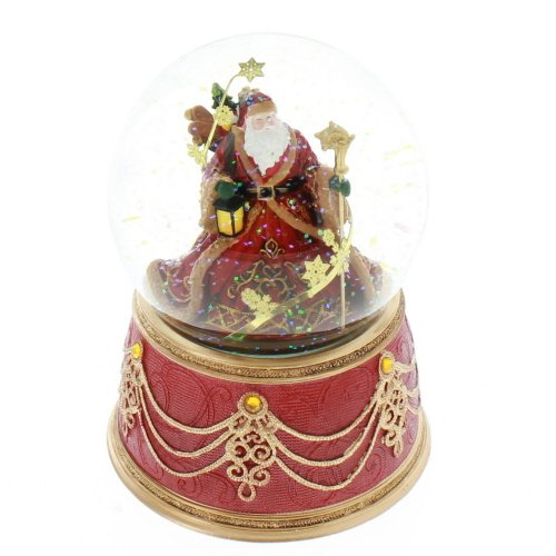 Roman Santa with Snowflakes Musical We Wish You a Merry Christmas