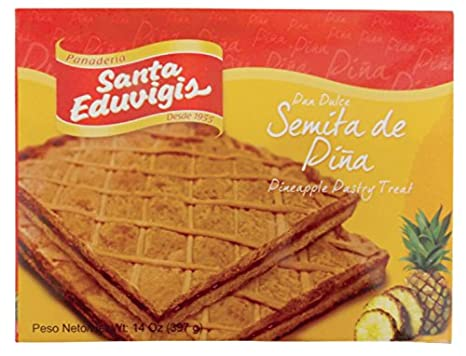 Amazon.com: SANTA EDUVIGIS Pan Dulce Semita Salvadoreña (Semita de Piña, 2 Pack)