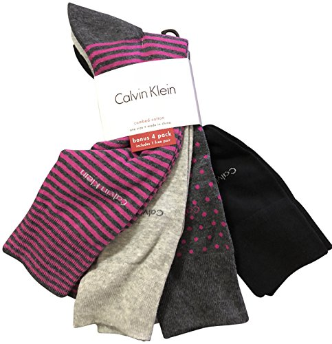 Calvin Klein Men's Dress Socks 4 Pack Grey Navy by Calvin Klein