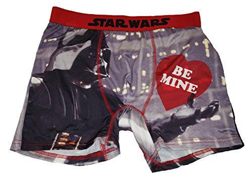 Valentine Star Wars Darth Vader Be Mine Graphic Boxer Briefs - Small