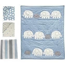 Lambs & Ivy Signature Elephant Tales 4 Piece Bedding Set