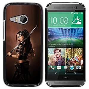 YiPhone /// Prima de resorte delgada de la cubierta del caso de Shell Armor - ASIÁTICO diosa guerrera - HTC ONE MINI 2 / M8 MINI