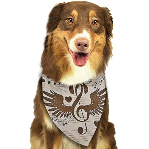 Dog Bandana Triangle Scarfs Puppy Bibs Accessories, Music Notation, for Dogs, Cats, Pet Birthday Party Gifts Supplies ()