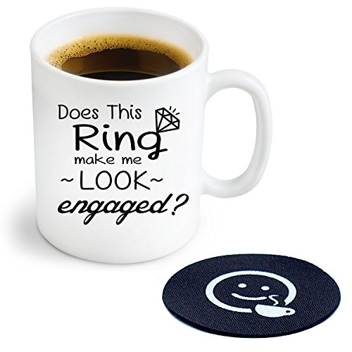 does-this-ring-make-me-look-engaged-novelty-coffee-or-tea-mug-and-coaster-11-oz-ceramic-mug-ships-in