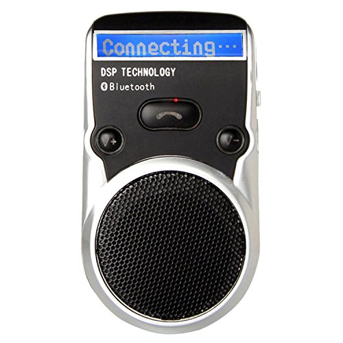 Solar Powered Bluetooth LCD Speakerphone Car Kit Handsfree Speaker for iPhone 7