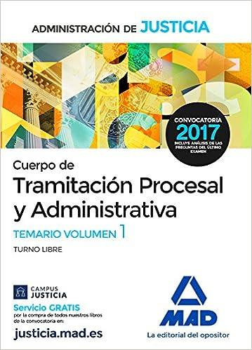 Temario 1 tramitación procesal y administrativa, turno libre