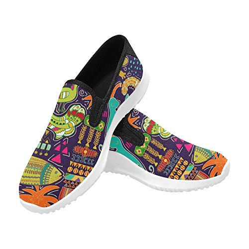Interestprint Kvinna Slip-on Dagdrivaren Skor Duk Mode Sneakers Multi 1