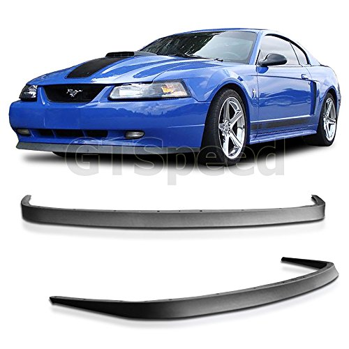 Mustang Chin Spoiler - 1999-2004 Ford Mustang GT V6 V8 USDM OE Style Front Bumper Lip - PU