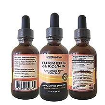 MAX ABSORPTION Turmeric Liquid Drops, Antioxidant Support, Organic Turmeric Extract, Non-GMO, Vegan Friendly