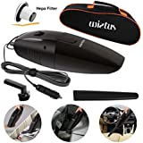 Car Vacuum Cleaner,Wietus 12V, 75W Portable Handheld Car Vacuum Cleaner/ Cleaner Dustbuster Hand Vacuum with a Portable Bag and 14.8 FT(4.5M) Power cord