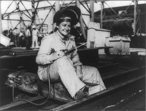 Foto: señora Jennie Mae Turner, soldador, Ingalls Astillero, empleo, Pascagoula, MS, 1943. Tamaño: 8 x 1: Amazon.es: Hogar
