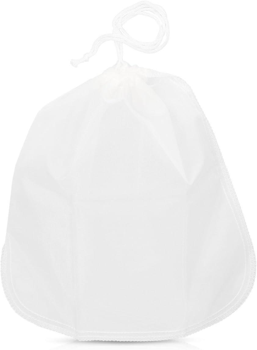 Feinsieb aus Nylon feinmaschiges Seiher K/üchensieb f/ür z vegane Nussmilch Mandelmilch Joghurt Navaris Nussmilchbeutel Passiertuch 30 x 30cm B