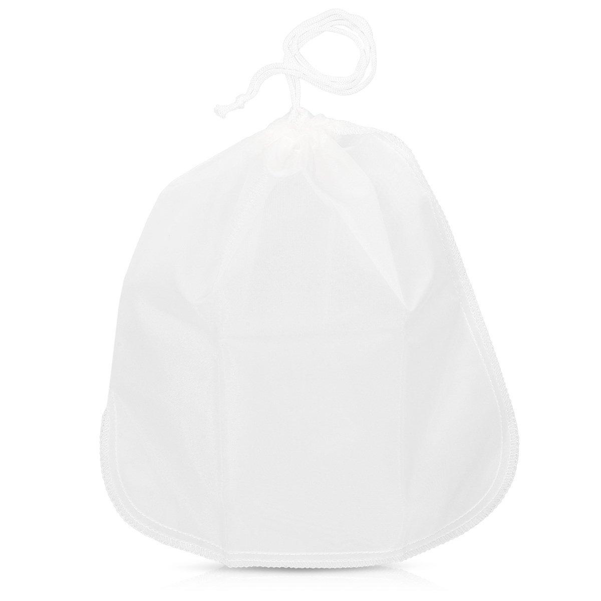 Filtre Passoire en Tissu pour Lait Chanvre Noix Amande Soja Riz Jus /Étamine Fromage Mousseline Vegan Blanc Navaris Sac /à Lait V/ég/étal 20x30 cm