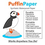 Puffin Paper - Synthetic Waterproof Paper - 25 sheets - 8 mil - 8.5x11 inches