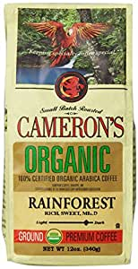 CAMERON'S Organic Ground Coffee, Rainforest Blend, 12-Ounce