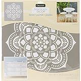 DecoArt DECADS-K.405 Decor Stencil 18x18 Mandala Americana Decor Stencil 18x18 Mandala