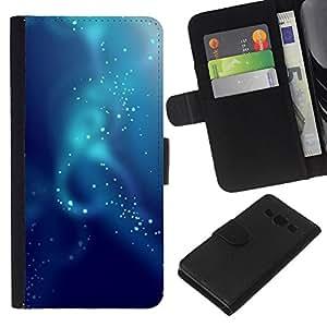 Stuss Case / Funda Carcasa PU de Cuero - Agua bajo el agua azul Burbujas - Samsung Galaxy A3