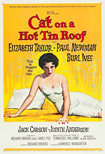 (Posterazzi Cat On A Hot Tin Roof Elizabeth Taylor 1958. Movie Masterprint Poster Print, (11 x 17) )