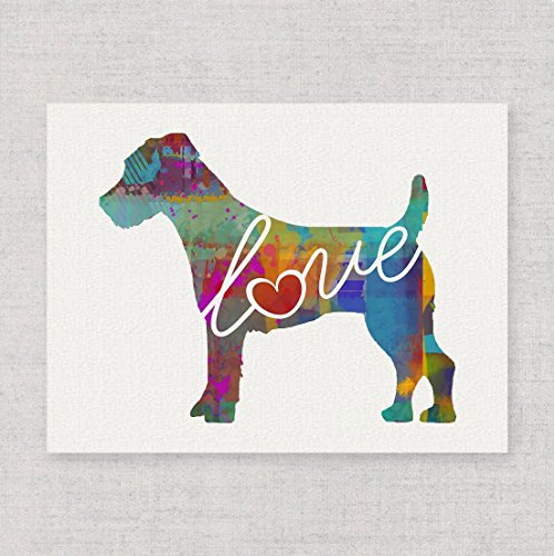 Jack Russell Terrier Love - Watercolor-Style Print/Poster on Fine Art Paper - Can Be Personalized