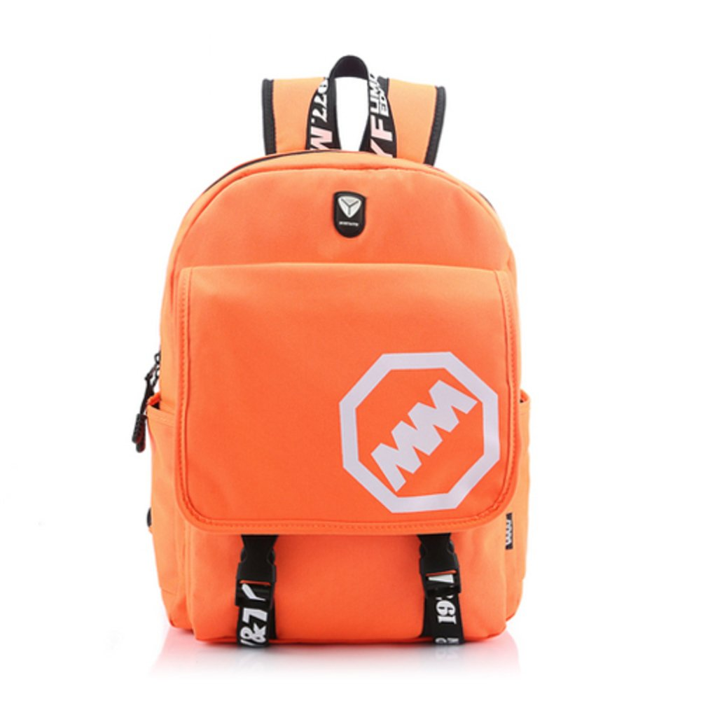 Backpack girls/Korean fashion bag/ bag of junior high school students/ canvas bags for men and women/Computer backpack-D