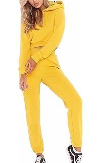 EMMA Otoño de Las Mujeres con Capucha Corto Casual Chándal Clubwear Raya Manga  Larga Ropa Deportiva e54e8955e2b5