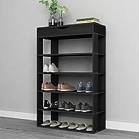 sogesfurniture Shoe Rack Free Standing Wooden Shoe Storage Shelf Shoe Organizer,BHUS-L24+BHUS-10A