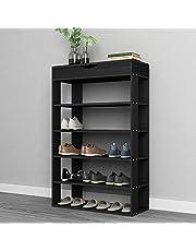 DlandHome Shoe Racks Shoes Shelf Storage Rack Solid Wood Shelf Organizer
