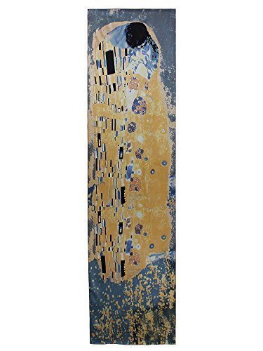 - Swhiteme Luxurious 100% Silk Charmeuse Long Scarf (Gustav Klimt's The Kiss)