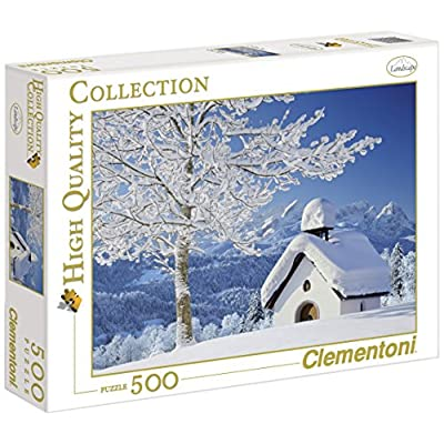 Clementoni Puzzle 30365 White Alpen 500 Pezzi High Quality Collection