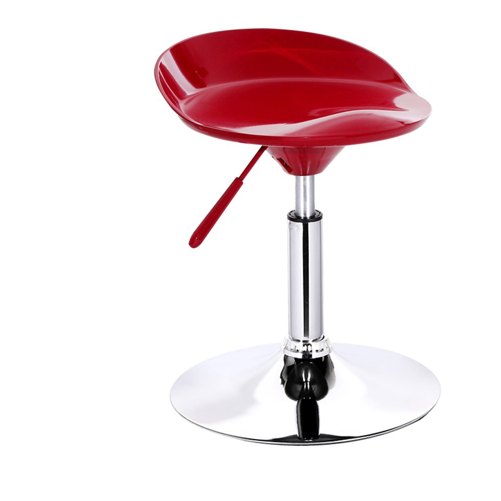 Red Ghjkl Bar Stool Fashion bar Stool Lift bar Chairs Front Stool -by TIANTA (color   Red Wine)