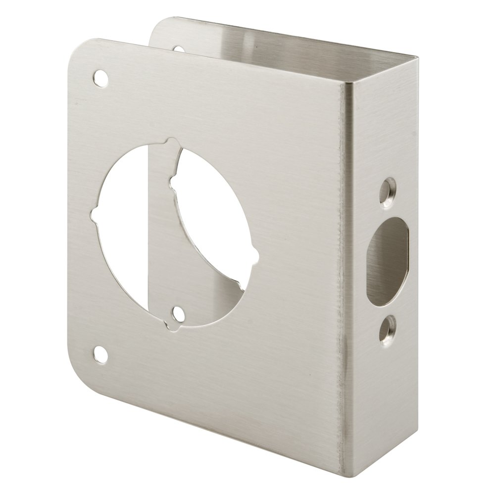 Prime-Line U 9589 Lock & Door Reinforcer, 2-1/8 in. x 2-3/8 in. x 1-3/8 in., Stainless Steel
