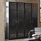 massivm bel industrial stil schrank altholz eisen lackiert massiv holz industrial 07. Black Bedroom Furniture Sets. Home Design Ideas